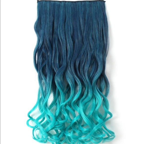 Accessories Mermaid Teal Clip In Hair Extensions Poshmark